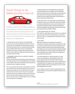 Financial Guides - 7 things to do before you buy a new car