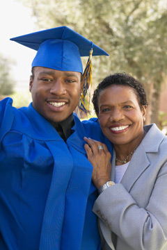 Parent with graduating student