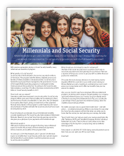 Financial Guides - Millennials and Social Security