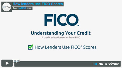 How do lenders use FICO Scores?