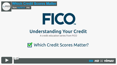 Which Credit Scores Matter?